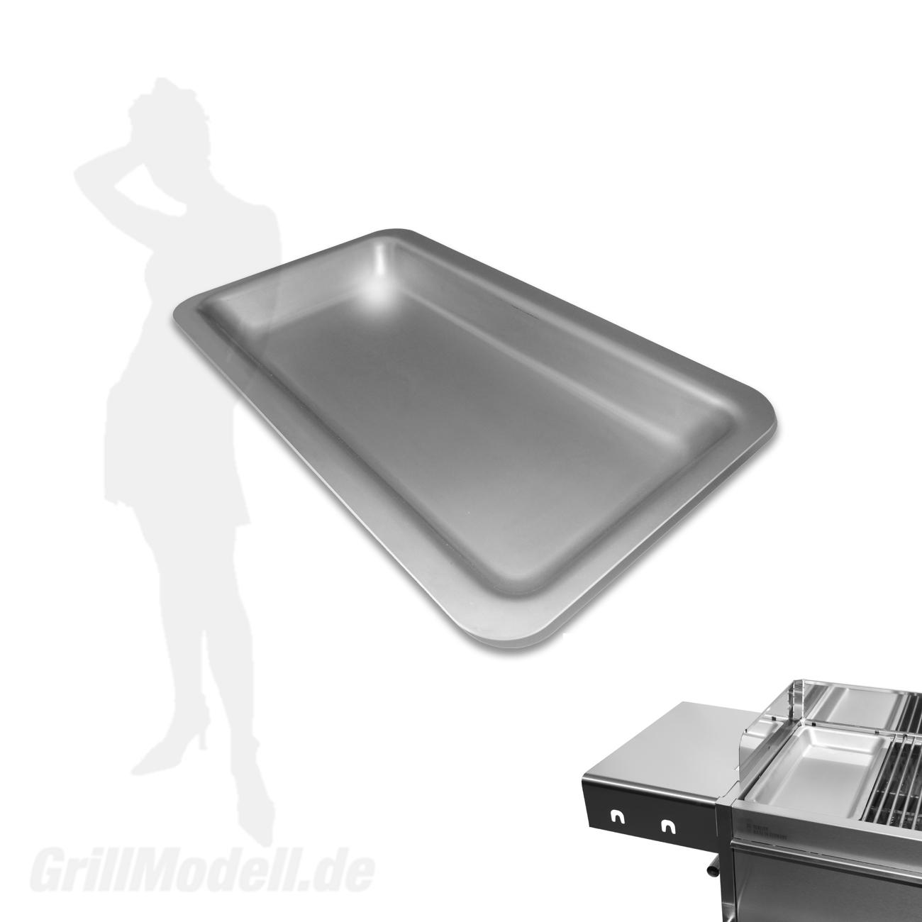 Edelstahl Grillplatte für Edelstahlgrill Holzkohlegrill Edelstar L