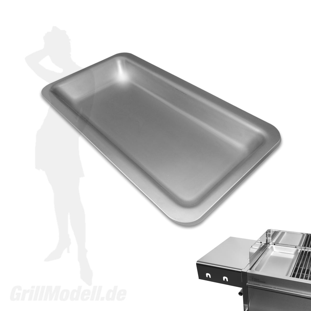 Edelstahl Grillplatte für Edelstahlgrill Holzkohlegrill Edelstar XL