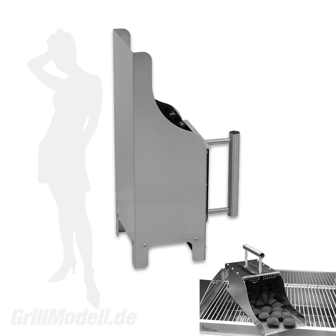 Grill Kohleanzünder für Edelstahlgrill Holzkohlegrill