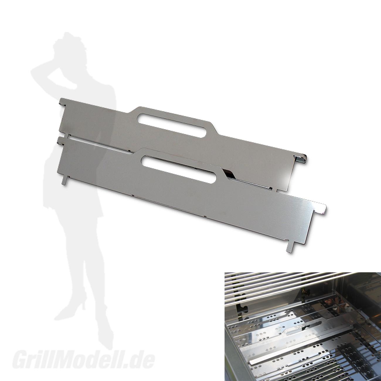 Edelstahl Kohletrenner für Edelstahlgrill Holzkohlegrill Edelstar XL