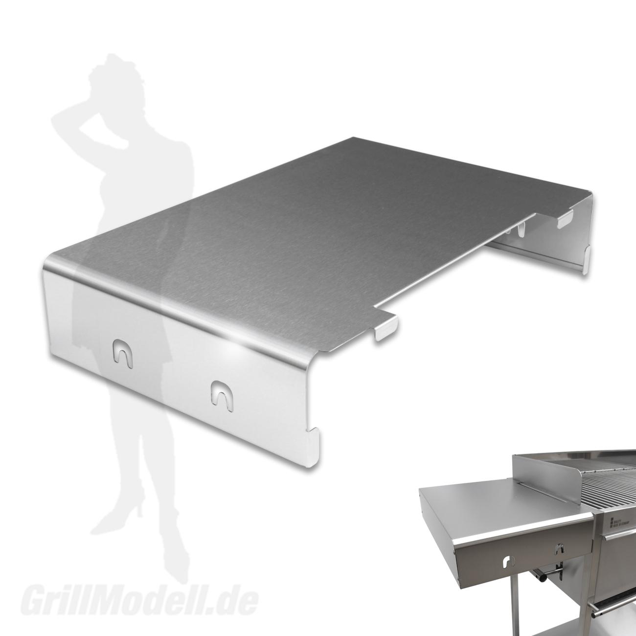 Seitenablage aus Edelstahl für Edelstahlgrill Holzkohlegrill Edelstar XL