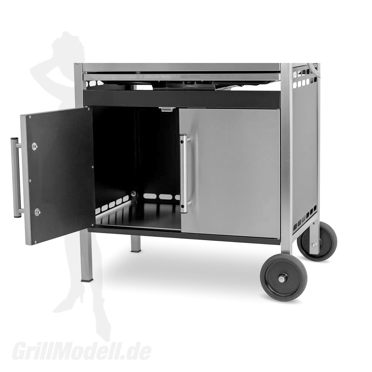 Unterschrank für Edelstahlgrill Holzkohlegrill Edelstar L 2 türig