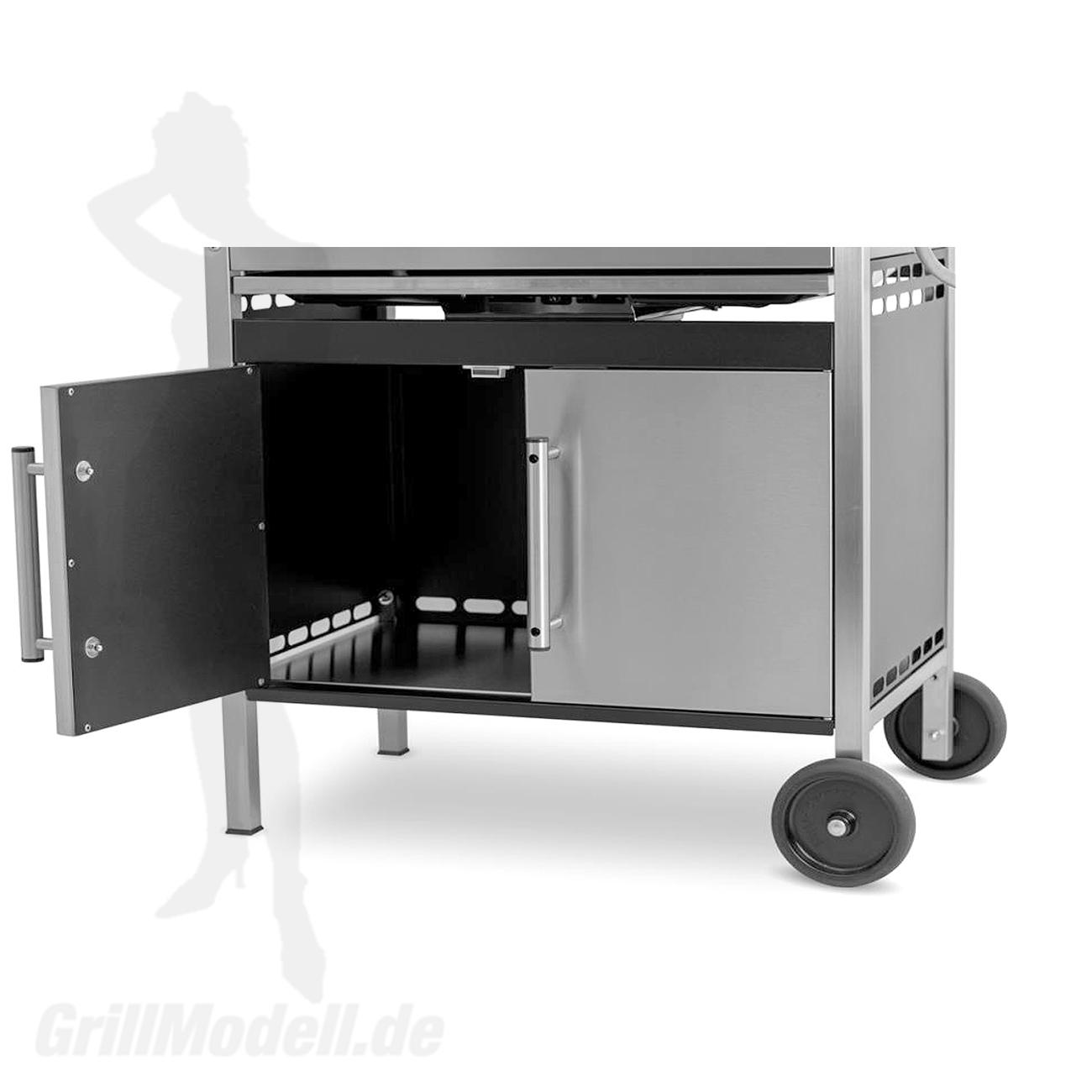 Unterschrank für Edelstahlgrill Holzkohlegrill Edelstar XL 2 türig
