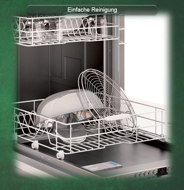 Viele Grillbauteile sind einfach und schnell in der Spülmaschine zu reinigen