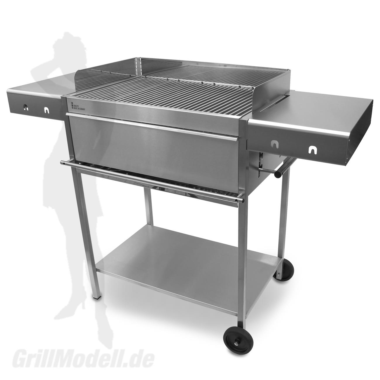 Holzkohlegrill Edelstahlgrill Edelstar XL Comfort komplett aus Edelstahl
