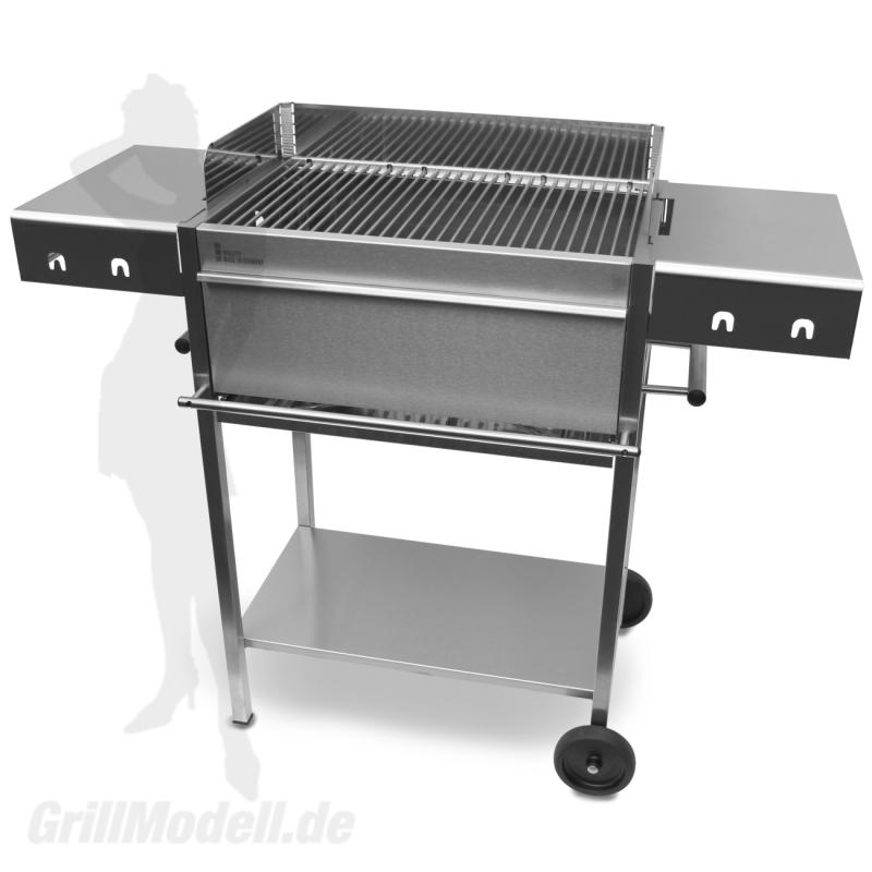 Edelstahlgrill - Holzkohlegrill - EDELstar L Comfort - Bausatz