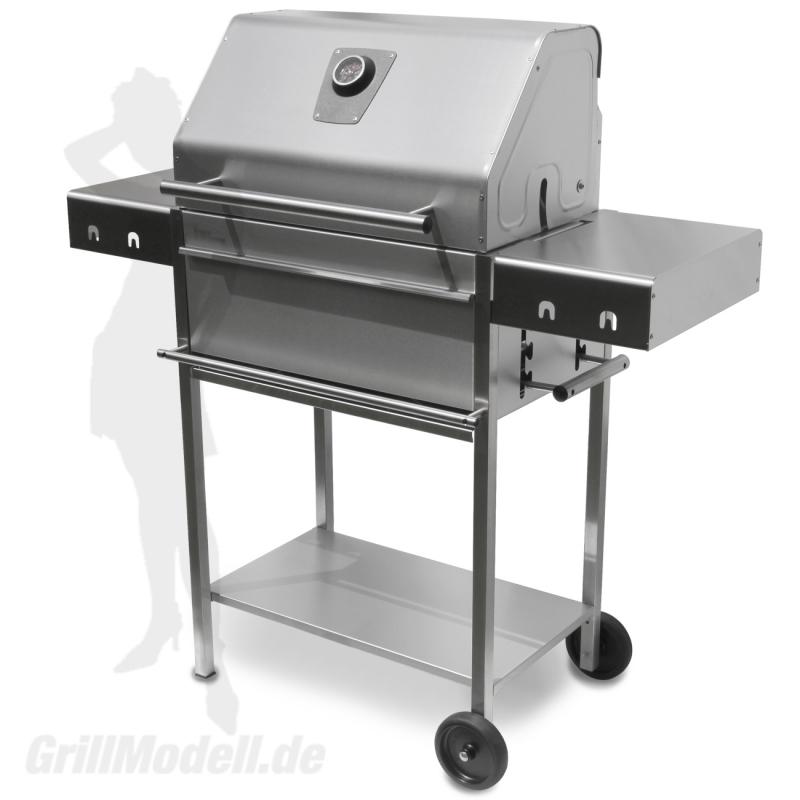 Edelstahlgrill - Holzkohlegrill - EDELstar L Profi - Bausatz