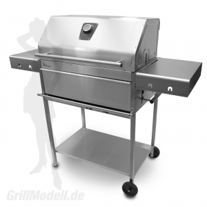Edelstahlgrill - Holzkohlegrill - EDELstar XL Profi - Bausatz