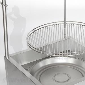 Edelstahl Schwenkgrill 650 - Bausatz