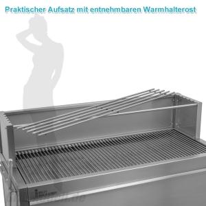 Holzkohlegrill - Profigrill aus Edelstahl PROFIstar 1000 - Modulbausatz