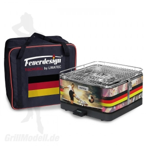 TEIDE - Holzkohle-Tischgrill - Sondermodell Fußball Deutschland