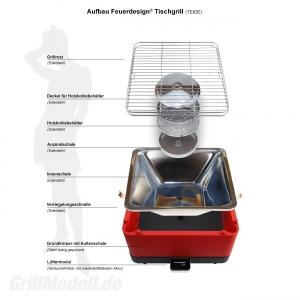 Ersatz Grillrost für Feuerdesign ® Tischgrill TEIDE und SANTORIN