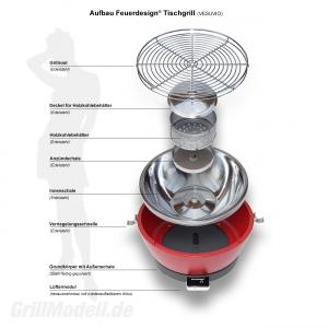Ersatz Grillrost für Feuerdesign ® Tischgrill VESUVIO und MAYON