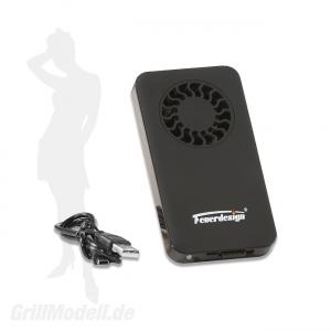 Ersatz-Lüftermodul für Tischgrills von Feuerdesign ® inkl. Akku und USB-Ladekabel