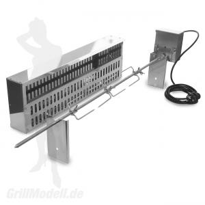 Spiessvorrichtung mit Motor und Glutkasten für EDELstar XL Grill